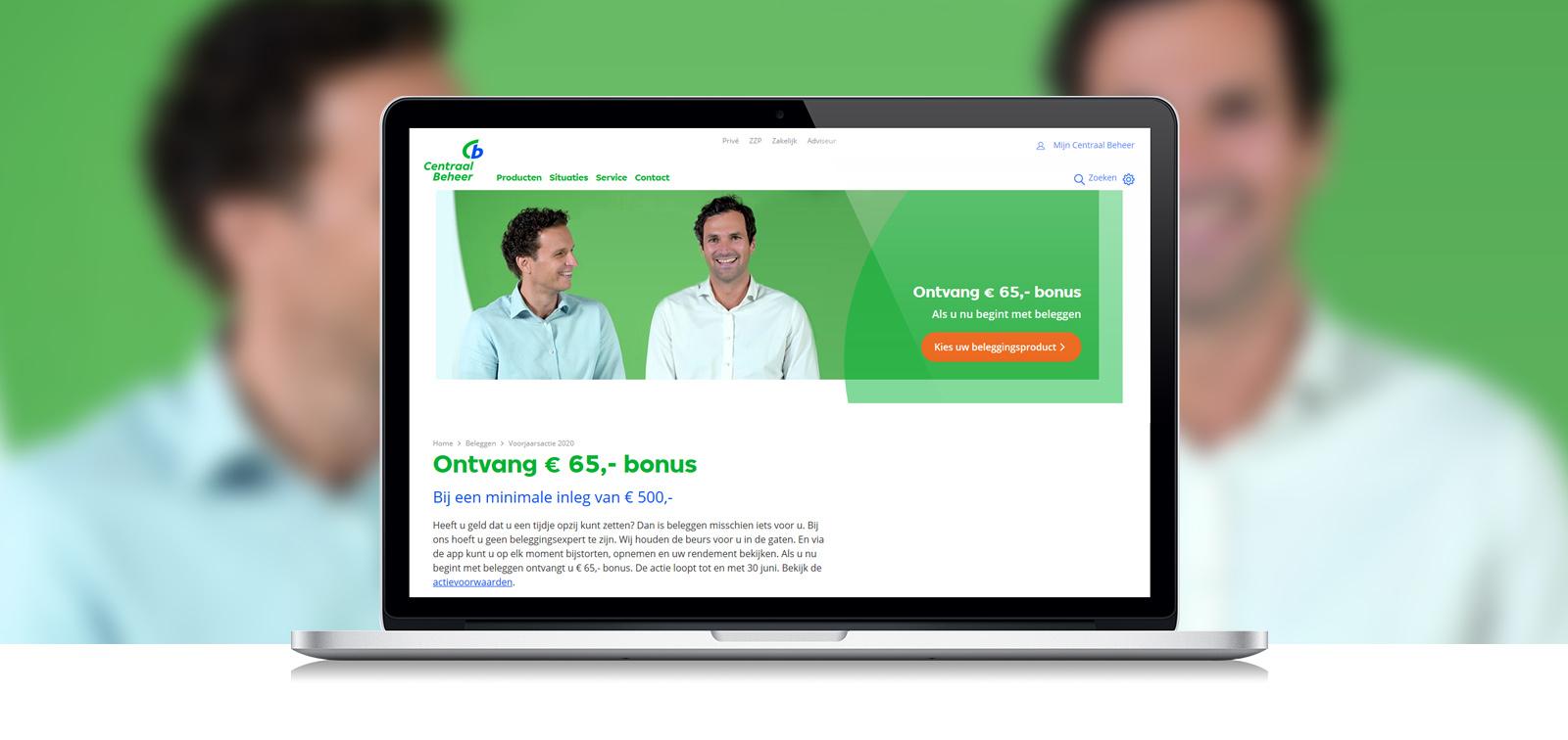 Voorjaarsactie van Centraal Beheer: beleg €500, ontvang €65 bonus