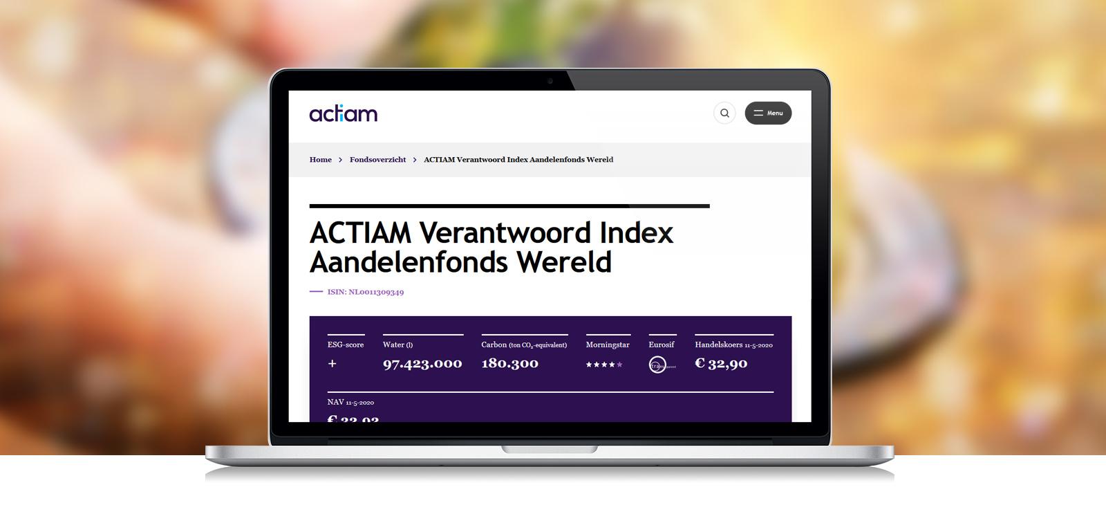 ACTIAM verlaagt kosten indexfondsen en gaat duurzamer beleggen